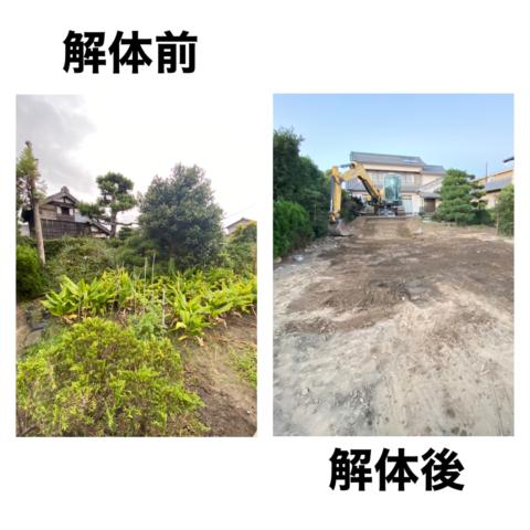 納屋の解体工事