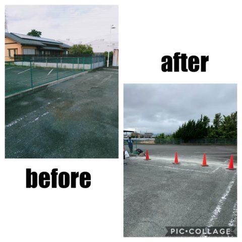 フェンスの解体撤去