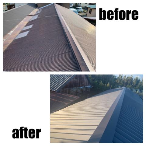 折半屋根葺き替え工事